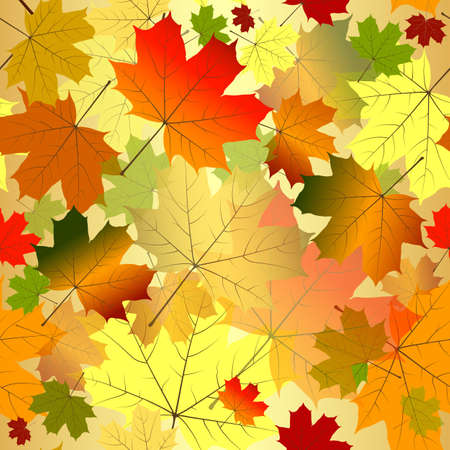 Floral seamless autumn pattern (vector EPS 10) Vector