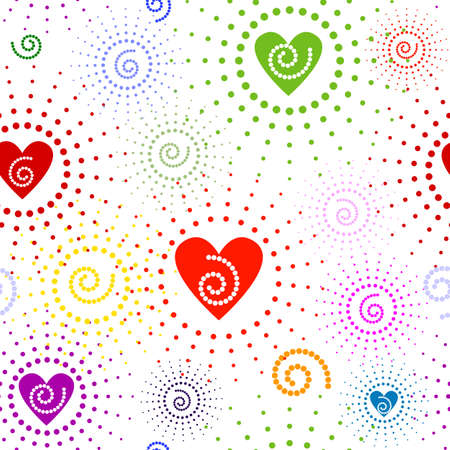 Abstract seamless valentine pattern Vector