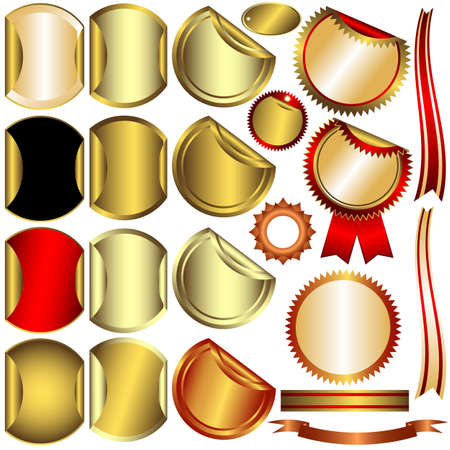 Collection gold, silver and bronze awards Vector