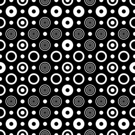 concentric: Abstract seamless black and white pattern
