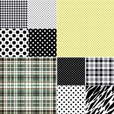 Big set classical seamless patterns  Vector