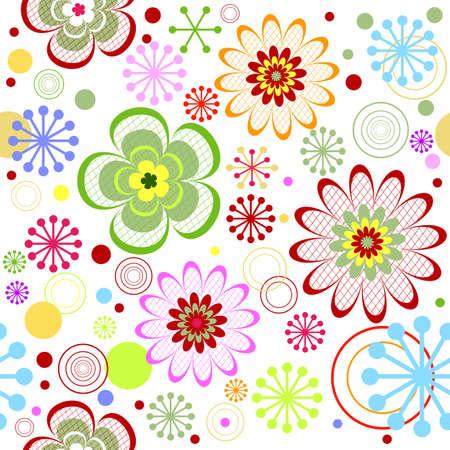 lilas: Seamless floral vivid pattern
