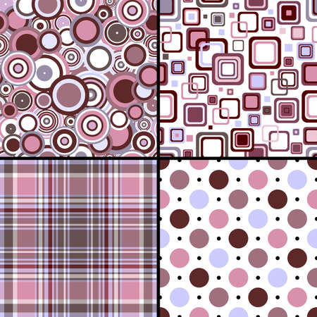 Set four seamless patterns Vector