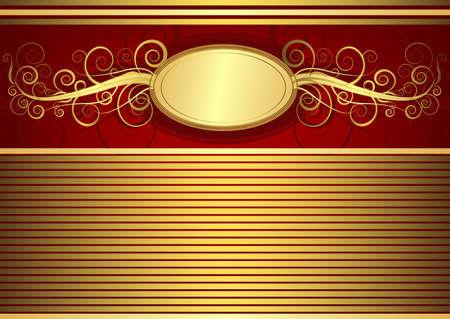 Gold vintage card Vector
