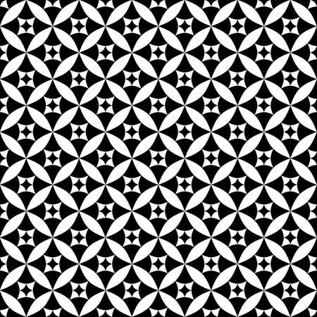 Black-white classical seamless pattern  Vector