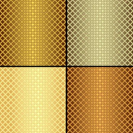 Set metallic seamless patterns  Stock Vector - 6379623