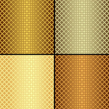 rhombus: Set metallic seamless patterns