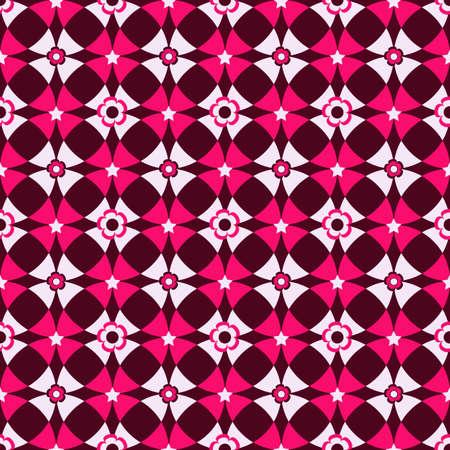 Seamless cell dark pink vivid pattern  Vector