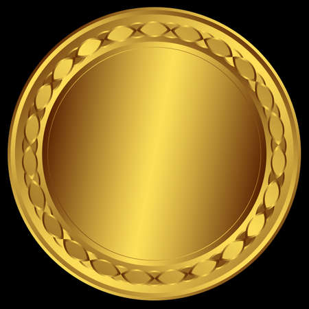 round frame: Big golden round frame