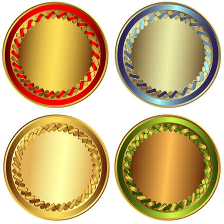 Set gold, silver and bronze awards Stock Vector - 6398552