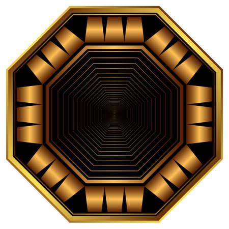 octagonal: Decorative elegant octagonal frame