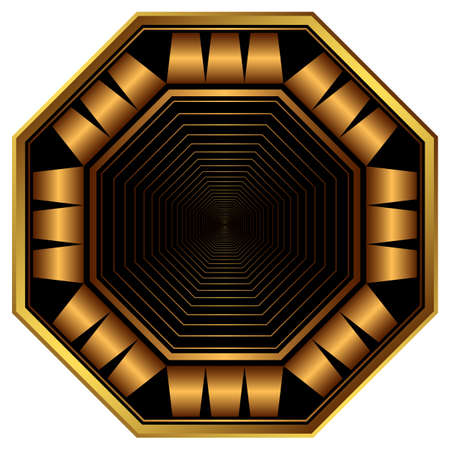 octogonal: Marco octogonal elegante decorativo Vectores