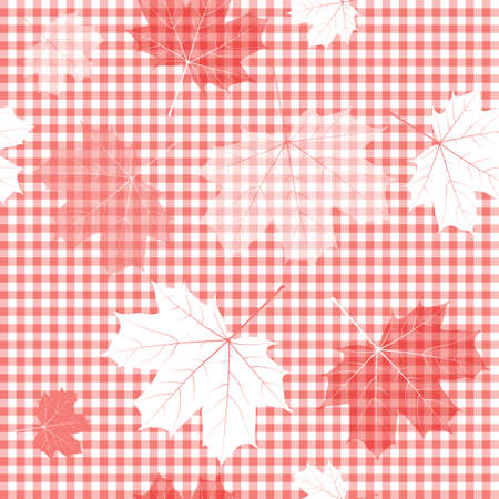Seamless red and white pattern  Vector