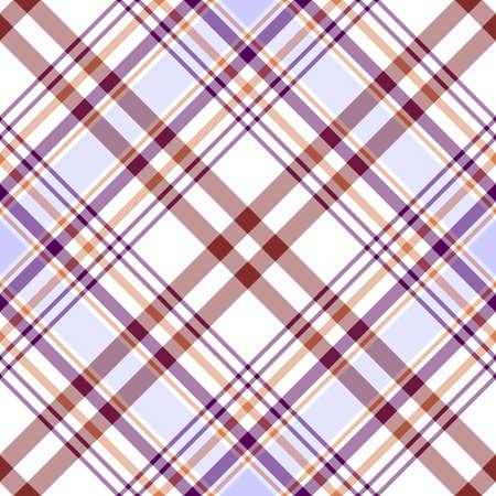 lilas: Seamless white, lilas and brown diagonal pattern Illustration