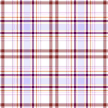 Seamless white and lilas scottish pattern Vector