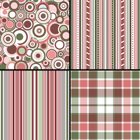 Set pastel seamless patterns  Vector