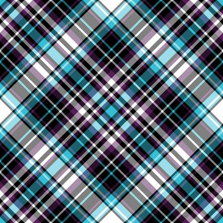 tartan: Abstract seamless dark tartan diagonal pattern  Illustration