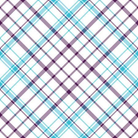 Abstract seamless white tartan pattern  Vector