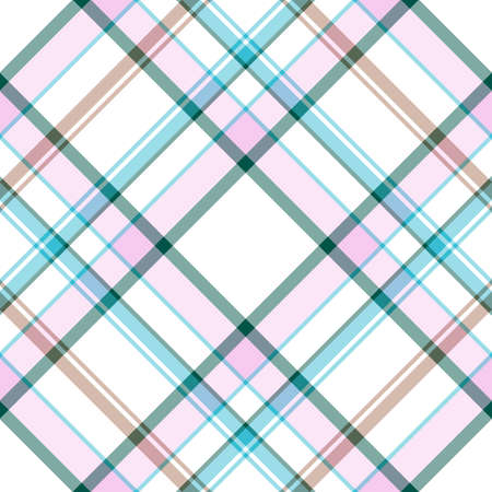 a pink cell: Abstract seamless white-pink-blue tartan pattern