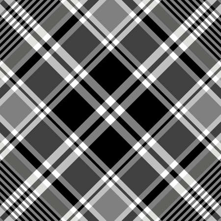 blackwhite: Seamless black-white and grey tartan pattern  Illustration