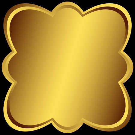 Metallic golden symmetric frame Stock Vector - 6418160
