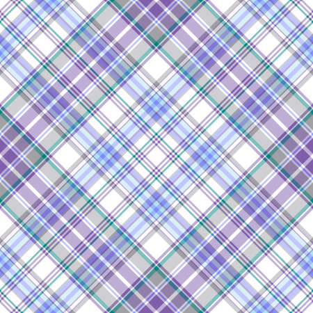 Seamless gentle tartan lilas-blue diagonal pattern  Stock Vector - 6418168