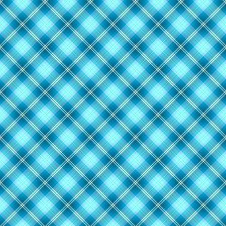 Abstract seamless tartan blue diagonal pattern  Vector