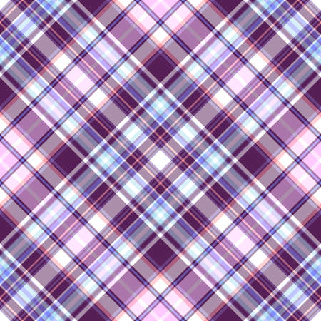 Gentle tartan violet-blue diagonal repeating pattern  Stock Vector - 6418169