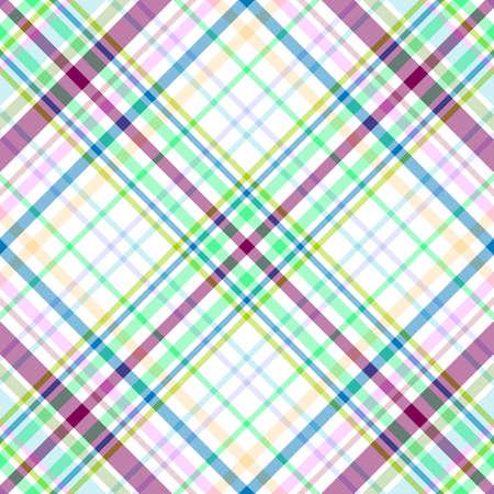 Seamless gentle tartan diagonal pattern Stock Vector - 6418166