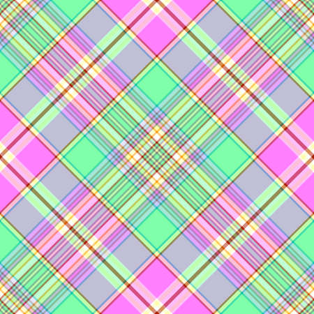 Abstract seamless tartan green-pink diagonal pattern Stock Vector - 6449850