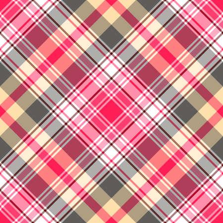 Seamless gentle pink-gray diagonal tartan pattern Stock Vector - 6449918