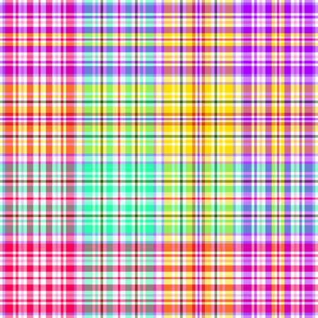 Abstract rainbow seamless tartan pattern Vector