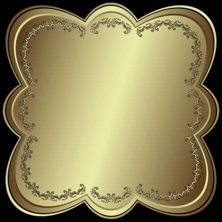 Metallic silvery symmetric frame Vector