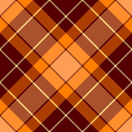 Seamless orange and brown cross pattern Vector