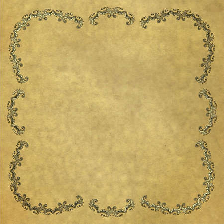 silvery: Old paper with vintage silvery  frame