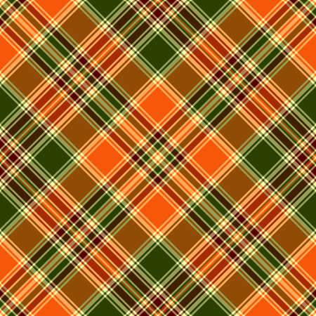 Seamless orange and green cross pattern ( Vector