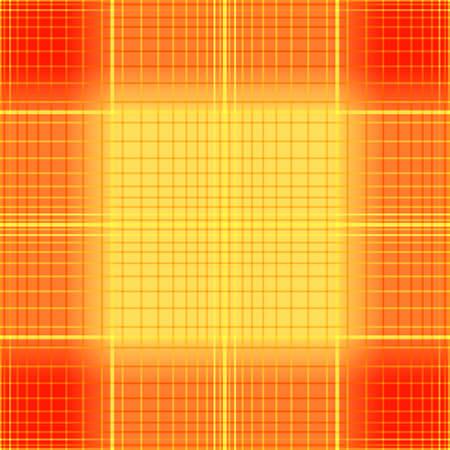 Orange seamless tartan pattern with  gradient Vector