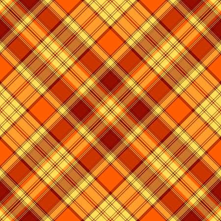 Seamless yellow-orange cross diagonal striped pattern  Vector