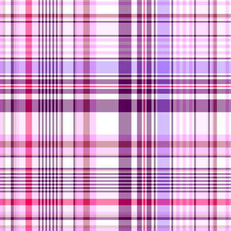 Abstract seamless white and violet-pink checkered pattern (vector EPS 10) Vector