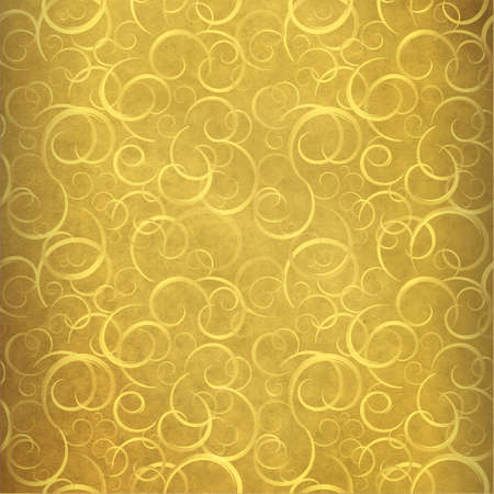 gold background: Old paper with golden pattern