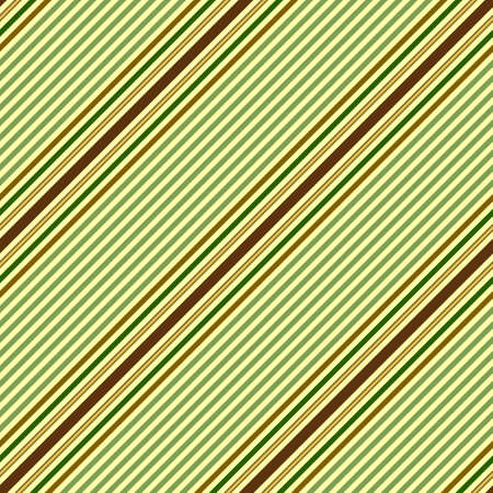 Seamless pastel green pattern with diagonal brown and golden stripes Vector