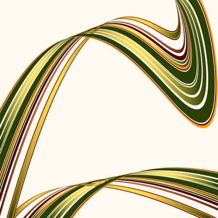 deformed: Crossed colorful deformed lines on a white background (vector)