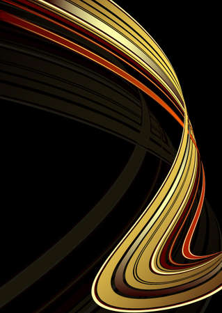 Black background with golden lines (vector EPS 10) Vector