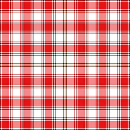 Seamless red and white checkered  pattern  Vector