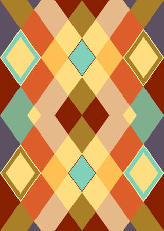 Decorative background from pastel colorful rhombuses. A seamless texture (vector) Vector