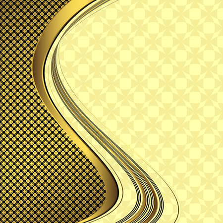 Elegant golden and black background (vector) Stock Vector - 6511622