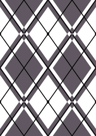 Seamless abstract pattern in white and grey rhombuses  Stock Vector - 6553726