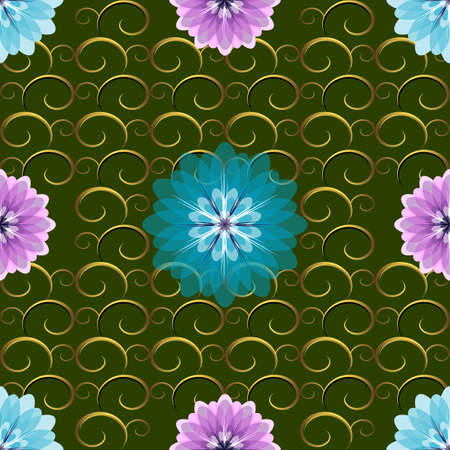 Seamless Green Floral Pattern Stock Vector - 6553734