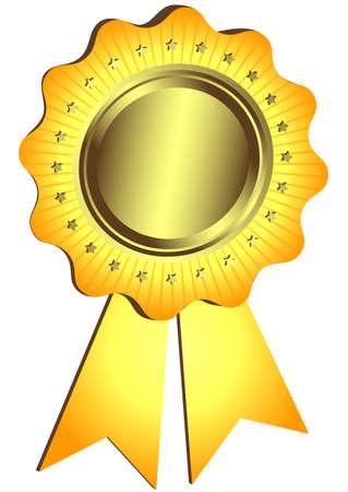 Golden Award with ribbon (vector) Stock Vector - 6584245