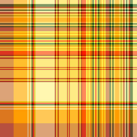 Orange-green-red and yellow seamless checkered pattern  (vector EPS 10) Vector
